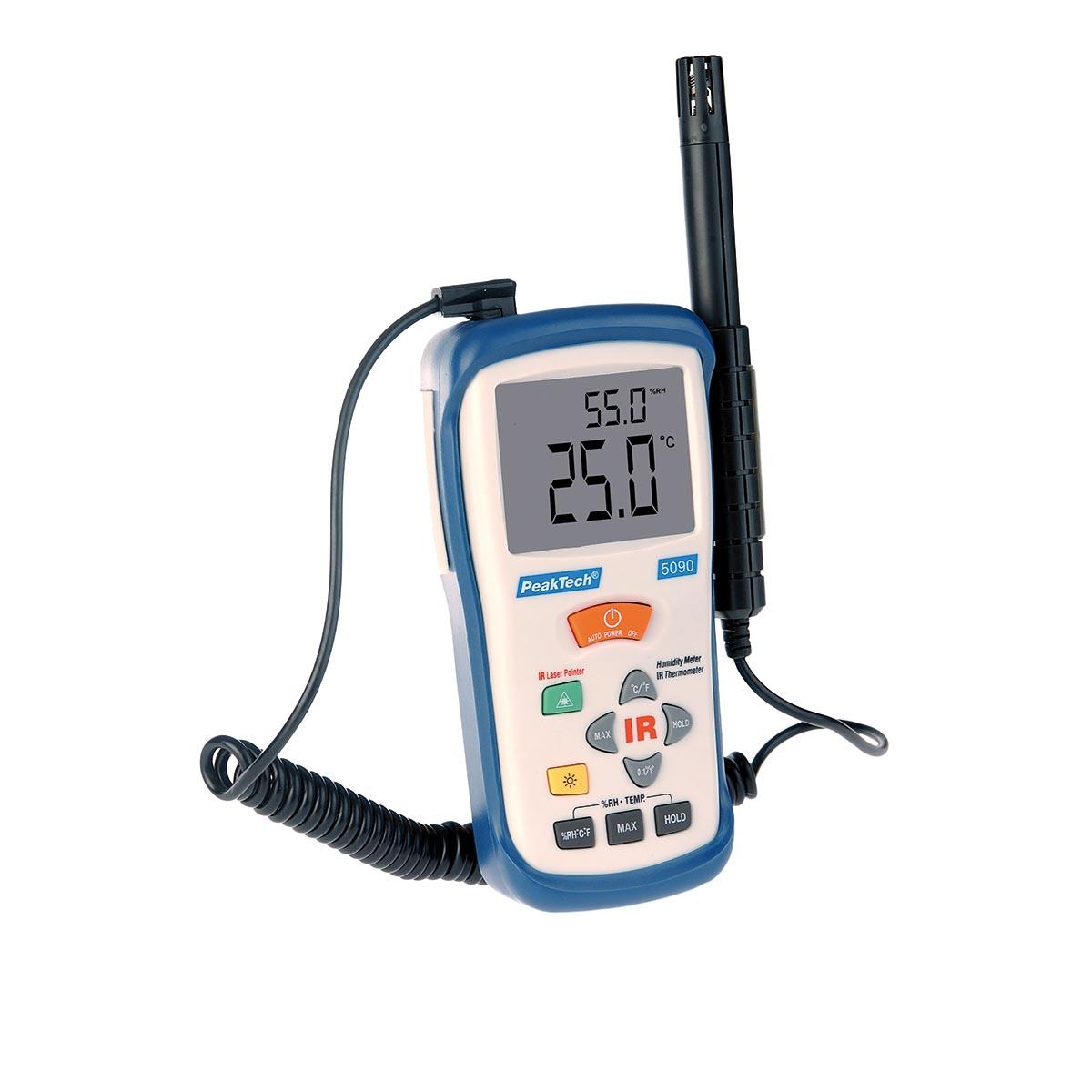 Medidor infravermelho de temperatura e umidade do ar - Medidor de temperatura ...